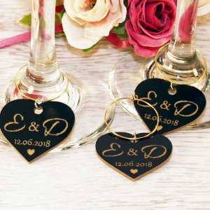 A great name tag which doubles up as a keepsake reminding them of your special day, the Personalised Glossy Heart Wine Glass Charm will ensure that your guests know which drink belongs to them!