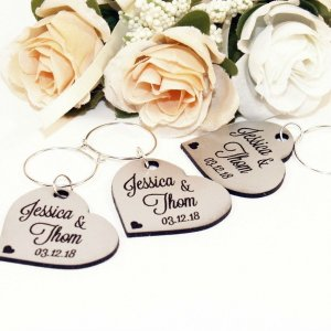 A great name tag which doubles up as a keepsake reminding them of your special day, the Personalised Silver Wedding Wine Charm will ensure that your guests know which drink belongs to them!