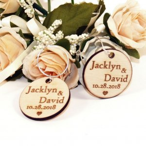 A great name tag which doubles up as a keepsake reminding them of your special day, the Personalised Wood Round Wedding Wine Charm will ensure that your guests know which drink belongs to them!