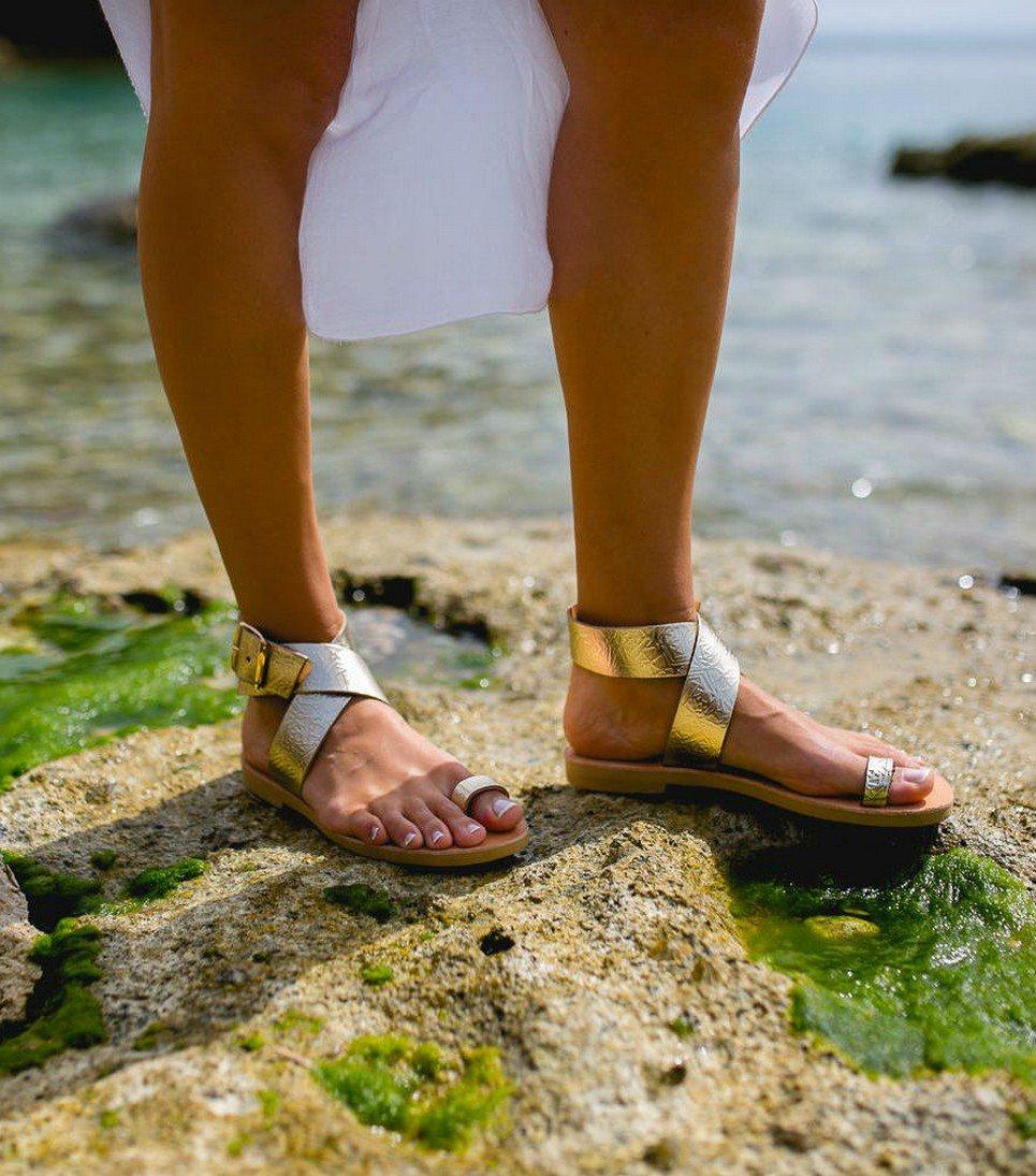 8b2c1a4ed2cc6 Dione Gold Greek Leather Sandal
