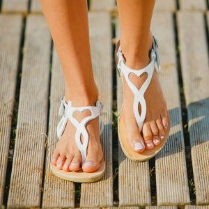 Just what every summer wardrobe needs, the Eros White Greek Leather Sandal is every woman's dream pair, super comfy and elegant, and easily combined with any outfit.