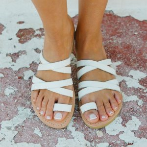 Just what every summer wardrobe needs, the Paros Greek Leather Sandal is every woman's dream pair, super comfy and elegant, and easily combined with any outfit.
