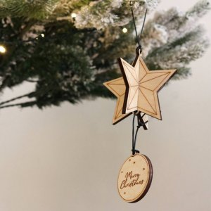 A family treasure to be displayed year after year, the Personalised Christmas Star Bauble makes a thoughtful gift and adds a personal touch to any Christmas tree to celebrate Baby's First Christmas.