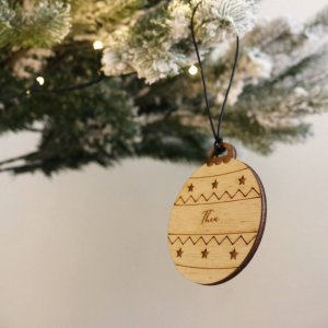 A family treasure to be displayed year after year, the Round Christmas Bauble makes a thoughtful gift and adds a personal touch to any Christmas tree to celebrate Baby's First Christmas.