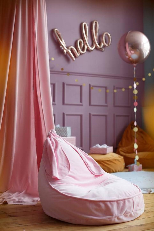 Bunny Velvet Pink Children S Bean Bag